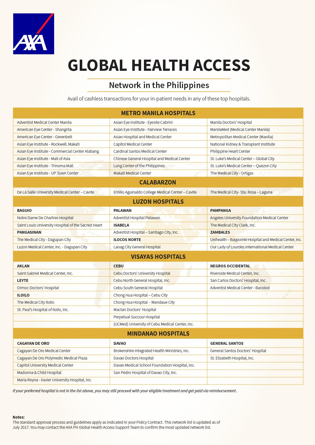 Manila Girl: AXA Health Max/Global Health Access/ Health