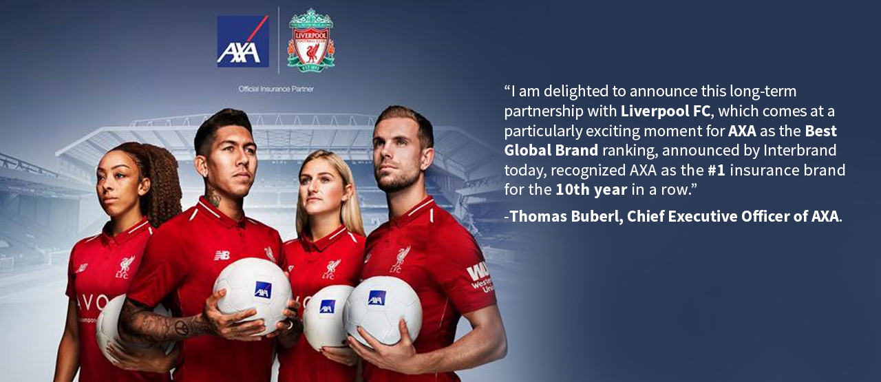 AXA Partnership with  Liverpool FC