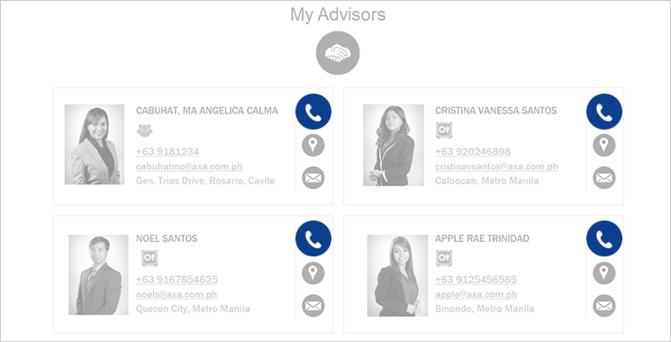 MyAXA Portal Contact Financial Advisor